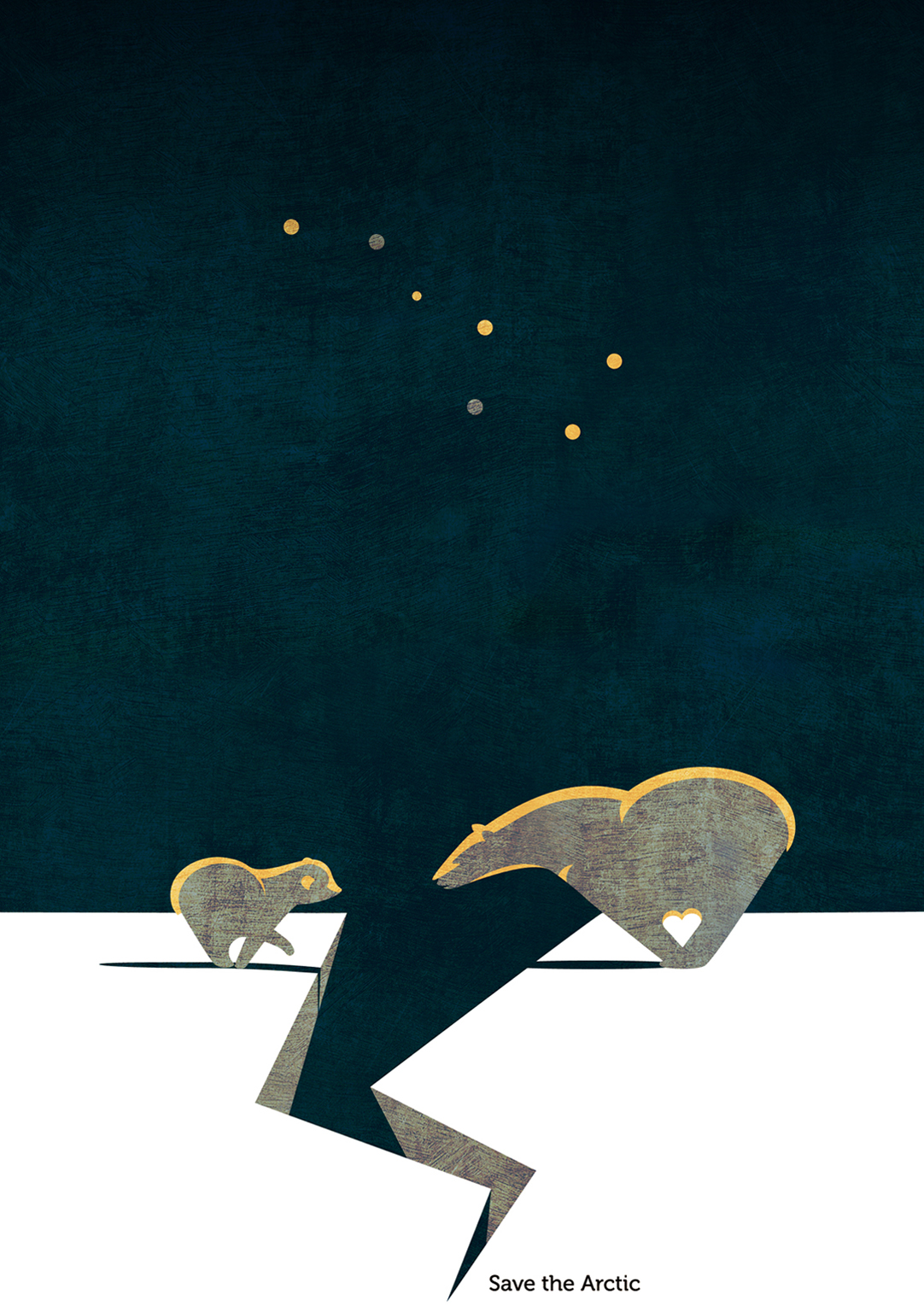 Save the Arctic - digital illustration by Daria Kirpach - http://www.dariakirpach.com/ - http://www.salzmanart.com/