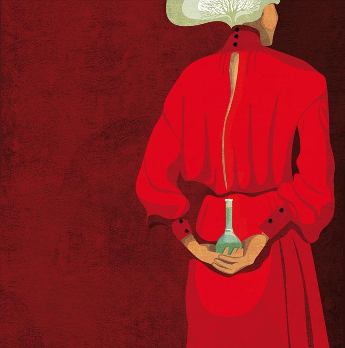 Rita Levi Montalcini - digital illustration by Daria Kirpach - http://www.dariakirpach.com/ - http://www.salzmanart.com/